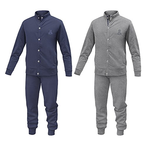 Pigiama   Tuta Homewear Uomo LANCETTI Cotone Felpato Varie Taglie Art.LF56 1fb517a8e3a
