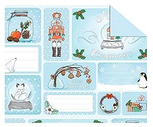 Ursus 11502201Cartulina Invierno Navidad, 300g/m², diseño 01,, 49, 5x 68cm