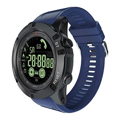 Smartwatch Fitness-Tracker, wasserdichte Sportuhr, GPS, Laufuhr mit Herzfrequenz am Handgelenk mit iOS Android für Männer und Frauen, blau