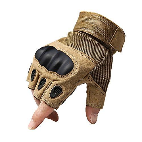 740b3a69c5 kt-supply mitones hombres deporte antideslizantes transpirables guantes  militar táctica demi-doigts para ciclismo