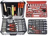 Famex Werkzeugkoffer Komplettset mit Steckschlüsselsatz