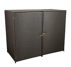 gartenmoebel einkauf m lltonnenbox f r 2x tonnen gross bis 240 liter 150x78x123cm stahl. Black Bedroom Furniture Sets. Home Design Ideas