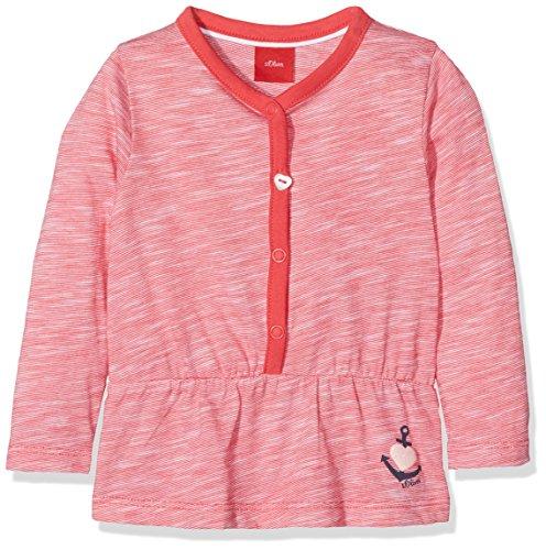 s.Oliver Baby-Mädchen Langarmshirt T-Shirt LANGARM_65707317200, Rosa (Purple/Pink Melange 45W6), 86 (Langarm-knopf-front-shirt)