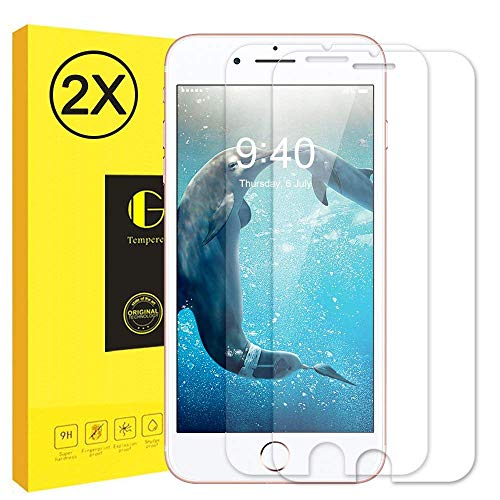 Vkaiy iPhone 6S/ iPhone 6 Panzerglas Schutzfolie, [2 Stück] Ultra-Klar Glas 9H Härte 3D Touch Kompatibel Anti-Kratzen, Anti-Öl, Anti-Bläschen für iPhone (iPhone 6/ 6S)