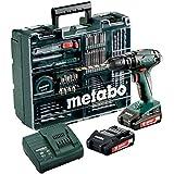 Metabo SB 18 Mobile Werkstatt Akku-Schlagbohrmaschine 2 Li-Power Akkupacks (18 V/2,0 Ah) , 1 Stück, , Grün; Grau; schwarz; rot, 602245870