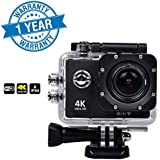 Raptas Wi-Fi 4K Waterproof Sports Action Camera - 4K Ultra HD, 16MP,2 Inch LCD Display, HDMI Out, 170 Degree Wide Angle Compatible With Xiaomi,Samsung,Sony,OnePlus 1/2/3/3T/5 ,Iphone And Other Smart Phones (1 Year Warranty)