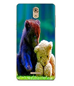 Case Cover Love Printed Blue Soft Back Cover For Coolpad Mega