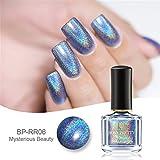 Born Pretty 6ml Holographic Nagellack Holo Glitter Superglanz Nagelkunst (Fliegen in den Himmel)