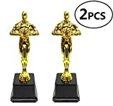 Kodoria Gold Award Trophies Oscar-Trophäen für Party-Feiern, Zeremonie, Wertschätzung, Auszeichnungen für Lehrer und Studenten, 2-Pack