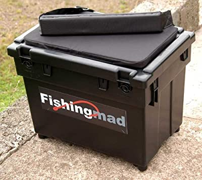 FISHINGMAD SEAT BOX + STRAP + CUSHION ---- 4 DESIGNS, Great seatbox tackle box choice of sticker by Bison