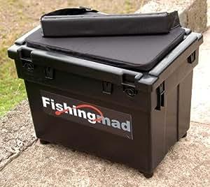 FISHINGMAD SEAT BOX + STRAP + CUSHION ---- 4 DESIGNS, Great seatbox tackle box choice of sticker
