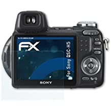 atFoliX Sony DSC-H5 Pellicola Proteggi - 3 x FX-Shock-Clear ammortizzante ultra chiaro Anti-Shock Pellicola protettiva