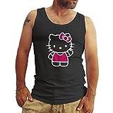 Hello Kitty Hi Schwarz Herren T-Shirt Tanktops Small