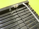 Alu Jalousie Aluminium Lamellen Fenster Rollo Schwarz 140 x 160 cm (Breite x Höhe) Jalousette Black Metall Lamellenjalousie