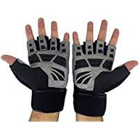 Preisvergleich für Pro Grip Gewichtheben Handschuhe von jasons Gear mit Wasser beständig Cow Hide Anilinleder, 45 cm lang Atmungsaktiv Handgelenkbandage Gurt, Anti-Reibung Gel Palm Grip. Geeignet für Workout Training Fitness Crossfit-Powerlifting