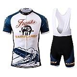 Thriller Rider Sports® Uomo Franks Airplane Sport e Tempo Libero Abbigliamento Ciclismo Magliette Manica Corta e Pantaloncini Cinturino Combinazione Small