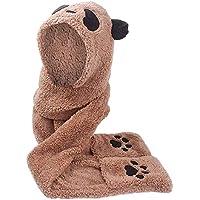 Zolimx Frauen Faux Pelz Schal Panda Form Beanie Warmer Winter halten warme Hut-Handschuh Tasche