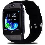 VOSMEP Reloj Inteligente Apro Smart Watch sorporte Facebook Whatsapp con Bluetooth 3.0 Built-in 8G Memoria Teléfono Inteligente Amarre Pulsera con Pantalla Táctil Cámara para Android Samsung HTC LG Huawei Xiaomi Teléfonos Inteligentes Reloj Deportivos SIM/TF SM4