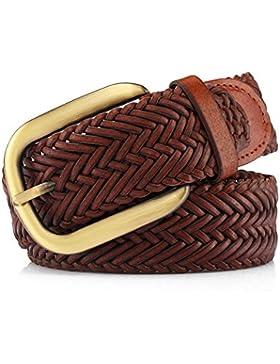 Cinturón Simple De Hebilla/Correa Tejida/Cinturón Decorativo De Moda