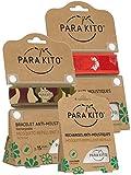Parakito-Schutz natürlicher ANTIMOUSTIQUE-KIT 2 x Para'kito Armband, 1 x aufladen Para'kito für Bettelarmband-NV