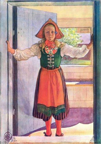 Posterlounge Forex-Platte 30 x 40 cm: Rosalind von Carl Larsson