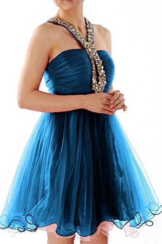 MACloth - Robe - Boule - Sans Manche - Femme Azul Marino Oscuro