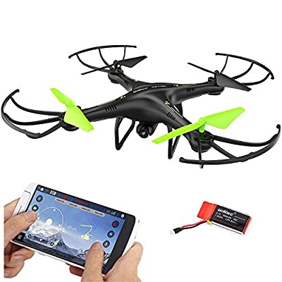 DAZHONG UDIRC FPV Drone 2.4Ghz RC Quadcopter with Wifi HD Camera,Altitude Hold and Flight Route Setting Mode,Headless Mode with Built-in Battery