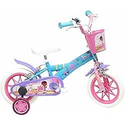 Disney - Bicicleta Infantil, Color Azul y Rosa, tamaño 12 Pulgadas