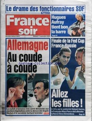 FRANCE SOIR du 17/09/2005 - LE DRAME DES...