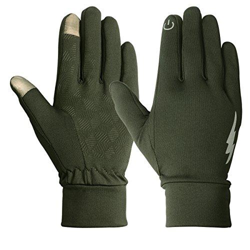 Running Winter-handschuhe (sharbay Winter Sport Handschuhe Professional Touch Screen Handschuhe Running Biking Handschuhe Outdoor/Indoor warme Handschuhe für Damen und Herren, armee-grün)