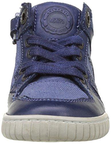 Kickers Winforce, Baskets Hautes Garçon Bleu (Bleu)