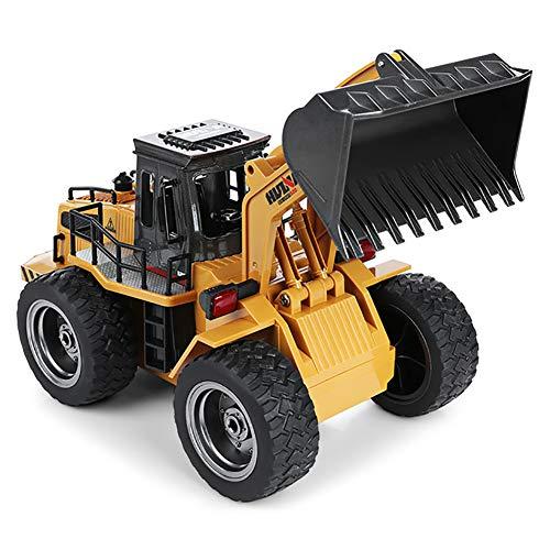 Bulldozer Truck mit Frontlader Truck Engineering Auto Fahrzeug Spielzeug RTR Metall Emulational Truck Radlader Big Bagger Legierung Safe Loader ()