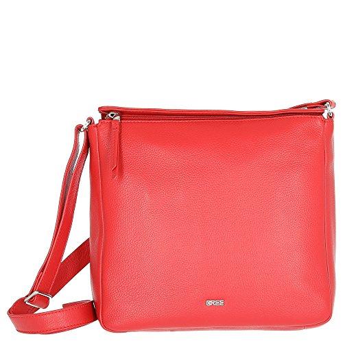 BREE Unisex-Erwachsene Lia 2, Racing Red, Cross Shoulder S W18 Schultertasche, Rot, 25x8x26.5 cm - Cross Handtasche Tasche