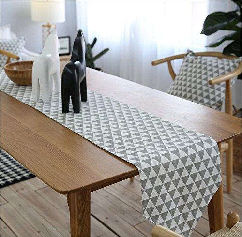 Tischläufer Tartan Table Runner Baumwolle und Leinen Tee Tisch TV Bank im Home Hotel Cafe Restaurant Multi-Size Haus Dekoration (Size : 30*200cm) -