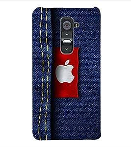 ColourCraft Logo Designer Jeans Back Case Cover for LG G2