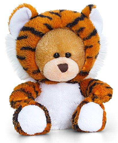 Lashuma Plüschtier Bär, Pipp The Bear mit Tiger Kostüm, Kuscheltier Teddy 14 cm