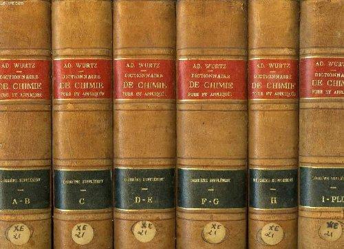 Deuxieme supplement au dictionnaire de chimie pure et appliquee, 6 tomes (a-plu)
