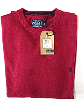 Joules Retford Del Hombres Cuello redondo Pullover Jumper Raspberry rosa tamaño pequeño
