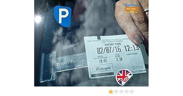 Tikettak 10 ticket and note holder Avoid parking fines Car van and caravan windscreen permit