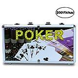 7Fuerte Maletin Estuche de Poker Game Set en Aluminio de 500 Fichas