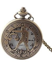 Maybesky Reloj de Bolsillo de Bronce Hueco Creativo del Vintage con el Regalo de cumpleaños de Cadena de la Boda de la Navidad para los Estudiantes Caja de Regalo para cumpleaños Aniversario día Nav