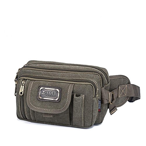 BUSL Wandern Hüfttaschen Kassen Business Casual Messenger Bag Außenreit Brust Leinwand Schulter Multifunktionstaschen Männer B
