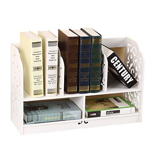 yinmake Ausschnitt Regal WPC Desktop Organizer weiß Storage Rack für Home Küche Bad Schlafzimmer Büro, weiß, 3 Tier/24.6 inch Counter Rack