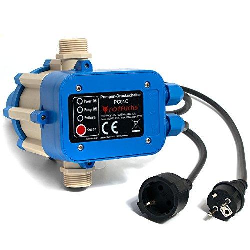 Rotfuchs® PC01.C mit Kabel Druckschalter Pumpensteuerung Pumpenschalter Druckregler