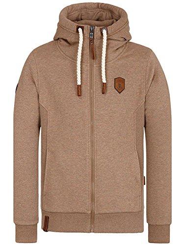 Naketano Male Zipped Jacket Birol IX dünnschiss kotze melange
