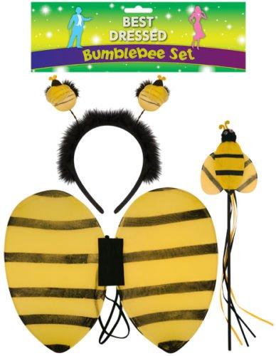 Für Bumble Bee Kids Kostüm - Kids Bumble Bee Tutu Kostüm Kleid Halloween Ohren Animal Zubehör Set von Lizzy®