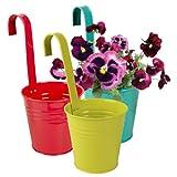 3er & 6er set Blumentopf Hängetopf Pflanztopf töpfe Blumen Kräutertopf