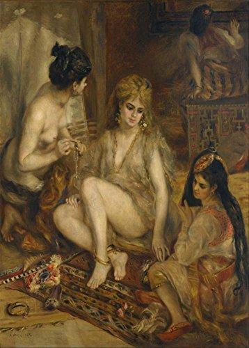 (Auguste Renoir Parisiennes in Algerische Kostüm oder Harem C1872250gsm, Hochglanz, A3, vervielfältigtes Poster)