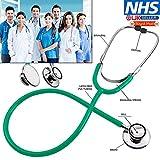 Splinktech Pro Medical EMT Doppelkopf-Stethoskop, für Ärzte, Krankenschwester, Tierarzt, Studenten, Gesundheitspflege, Blau, Pink, Rot, Schwarz, Grün, sehr leicht und einfach zu verwenden