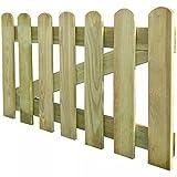 mewmewcat Holzgartentor Lattenzauntor aus Holz Gartentor 100 x 60 cm Zauntür Hoftor für Garten Terrasse Hof